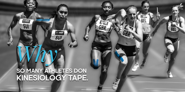 Why So Many Athletes Don Kinesiology Tape