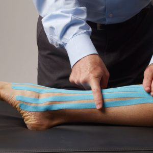taping a sprained ankle