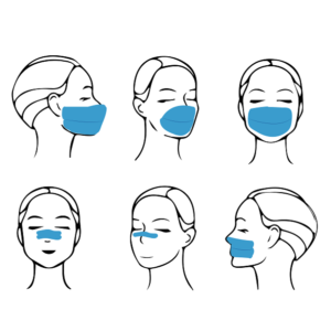 kinesiology tape as face mask image